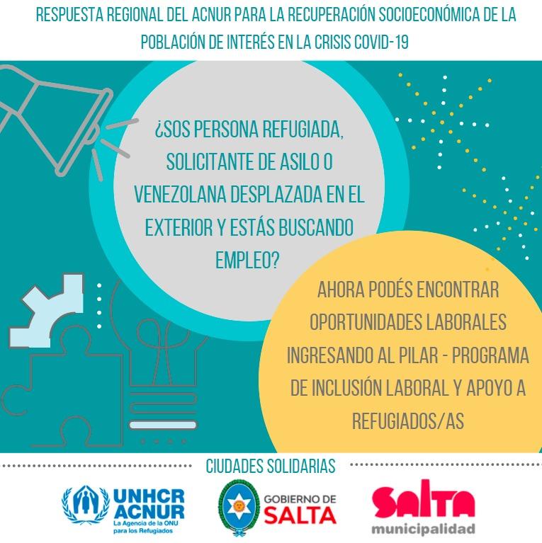 La Municipalidad participa de la iniciativa de apoyo a refugiados denominada PILAR